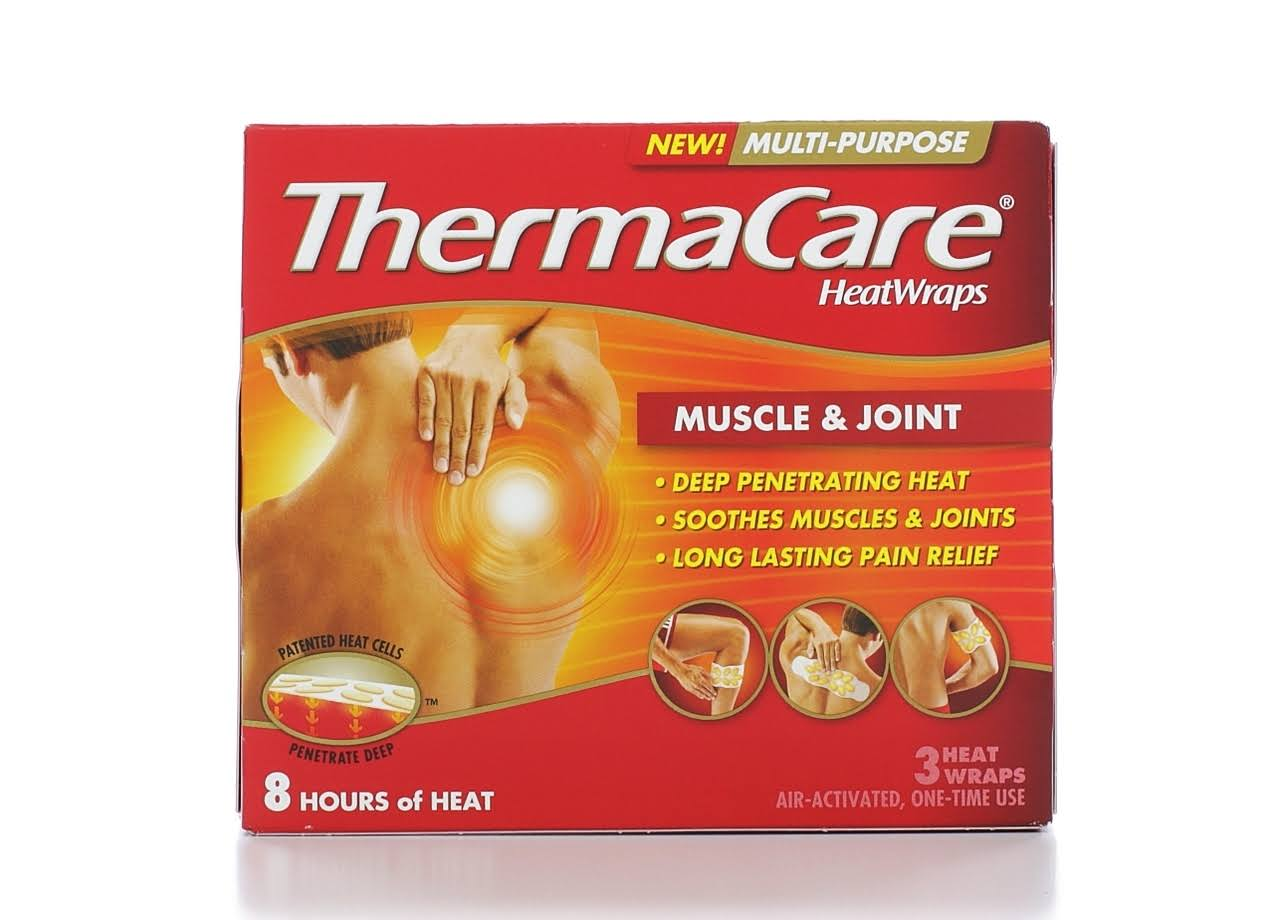ThermaCare Muscle and Joint Heat Wraps - 3 Muscle Heat Wraps