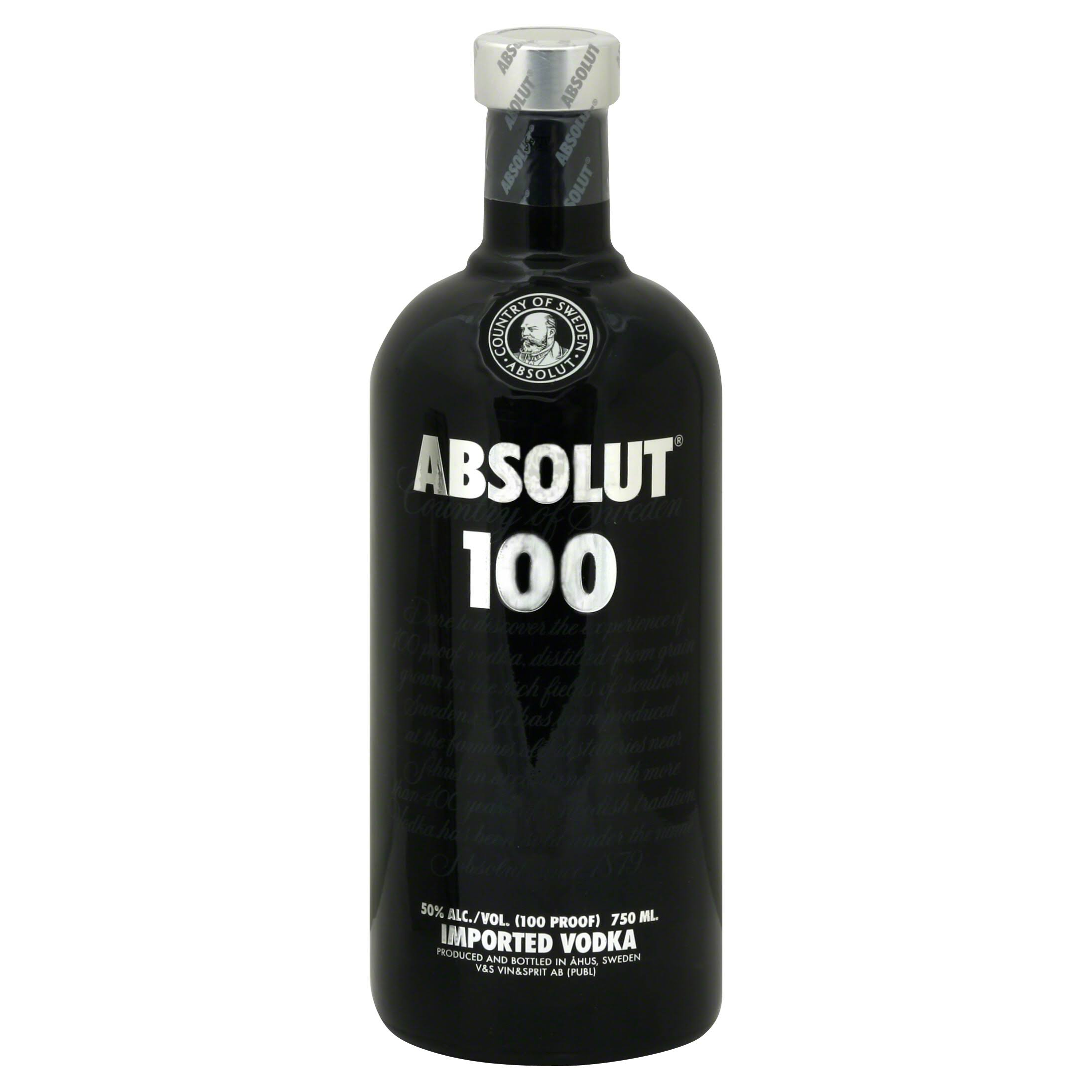 Absolut Vodka 100 Black - 750ml