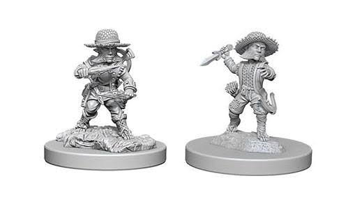Pathfinder Deep Cuts Unpainted Miniatures - Halfling Male Rogue