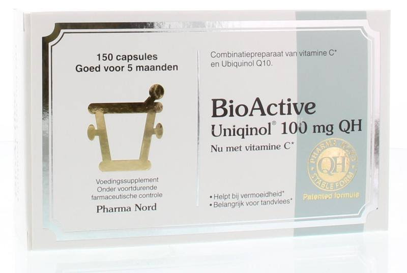 Pharma Nord Bio-Active ubiqinol Q10 100mg 150 Pack