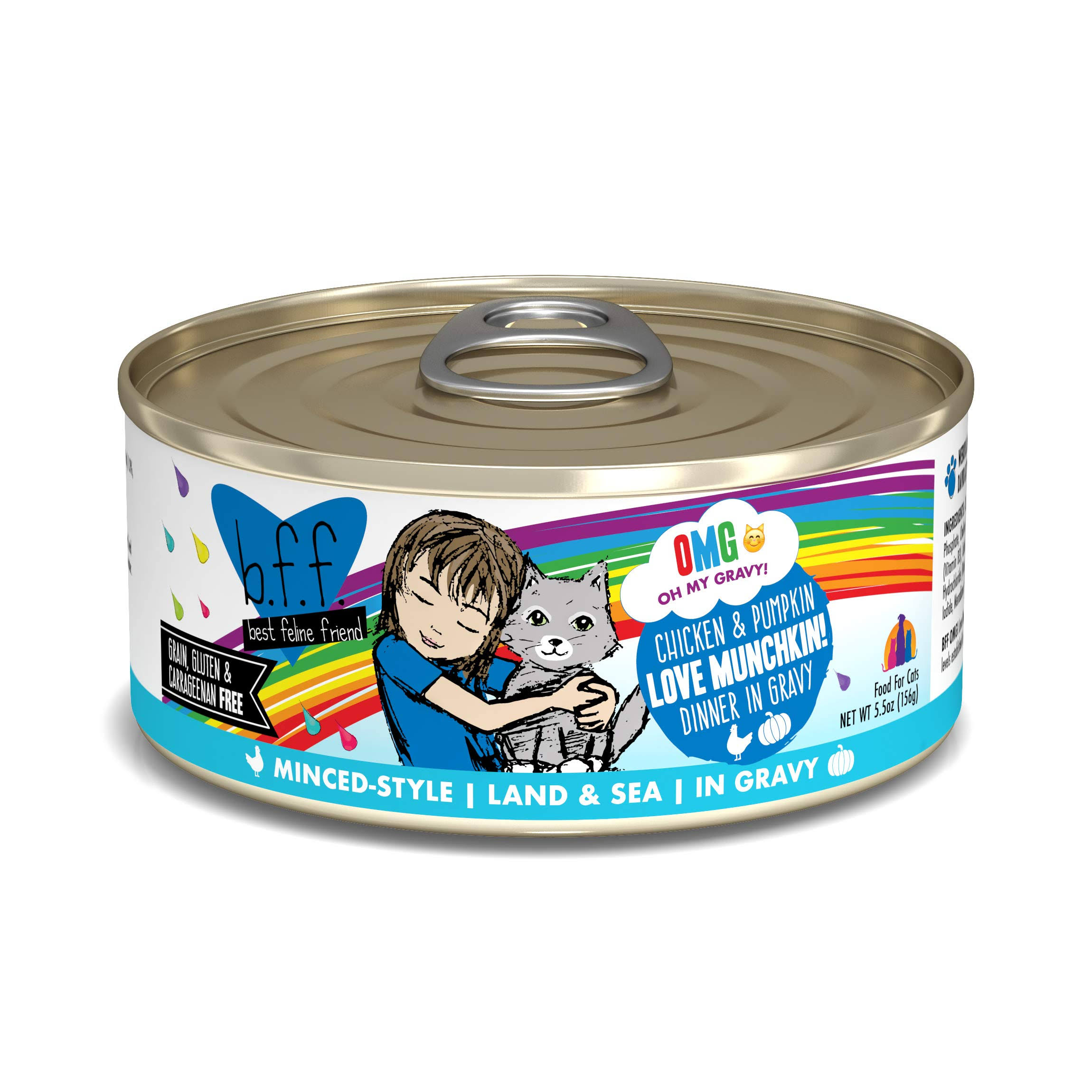 Weruva BFF Wet Cat Food - 156g, Chicken and Pumpkin