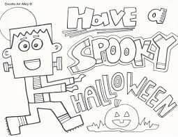 Haunted Halloween Crossword by Halloween Coloring Pages Doodle Art Alley