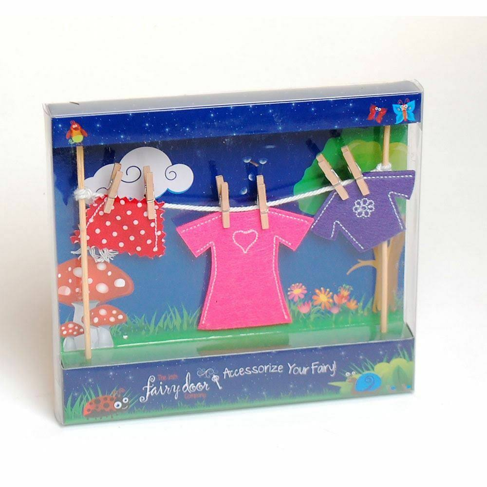 Irish Fairy Door Clothes Line Female