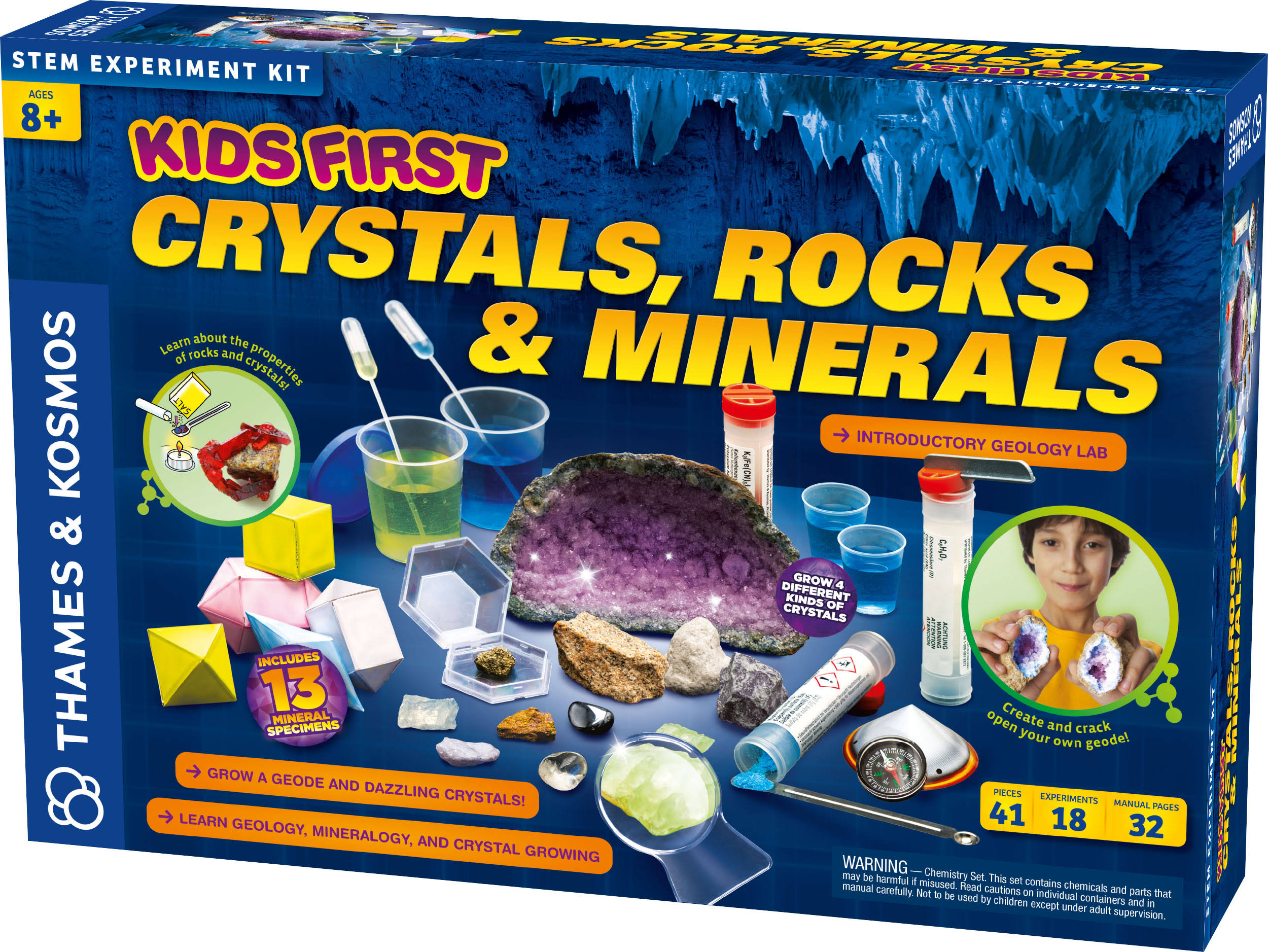 Thames & Kosmos - Kids First: Crystals, Rocks, and Minerals Kit