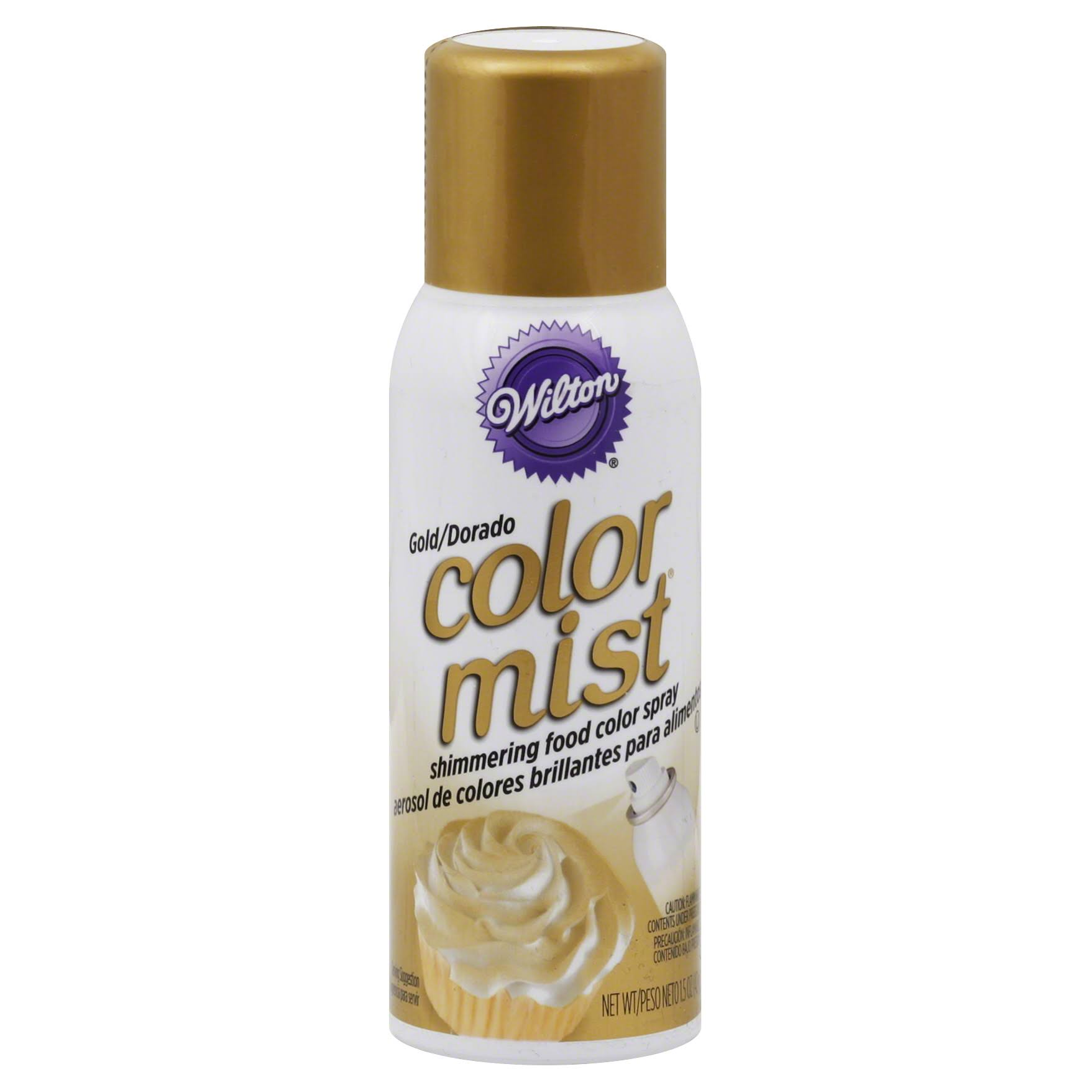 Wilton Metallic Color Mist Food Spray - Gold, 1.5oz