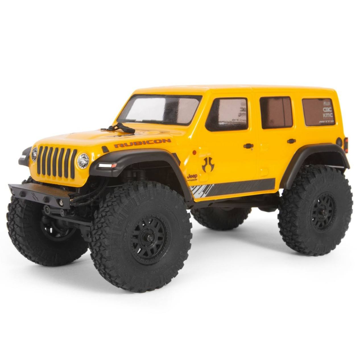 Axial Jeep Wrangler JLU CRC Rock Crawler 4wd Radio Control Toy - Yellow, 1/24 Scale