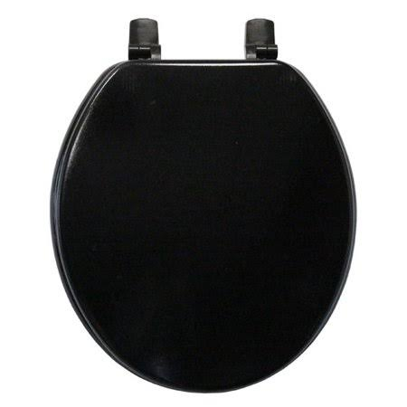 Trimmer Molded Wood Round Toilet Seat - Black