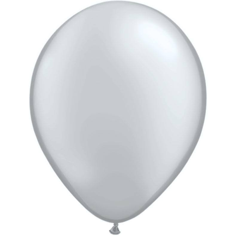 "Qualatex Round Balloons - 11"", Silver, Pack of 100"