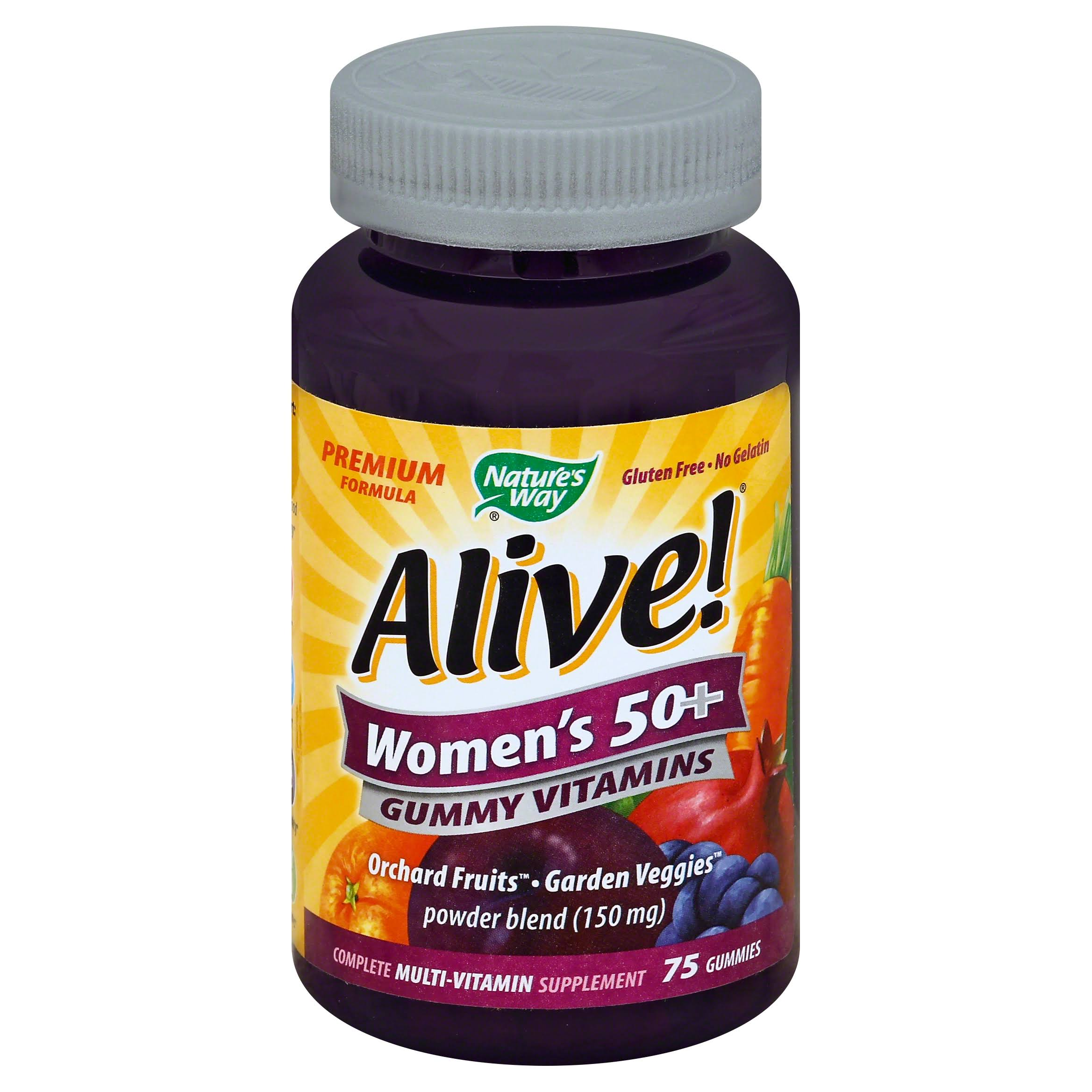 Nature's Way Alive Women's 50 Plus Gummy Multi-Vitamins - Chewables, 75 Count