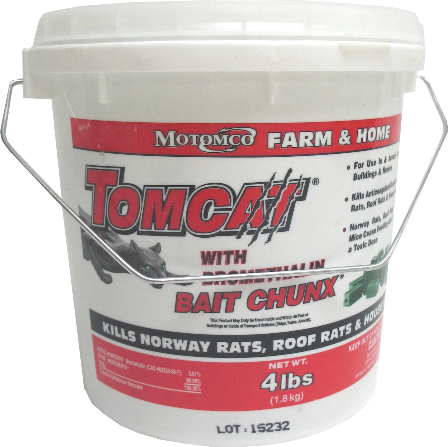 Motomco Tomcat Mouse and Rat Bromethalin Bait Chunx - 4lb