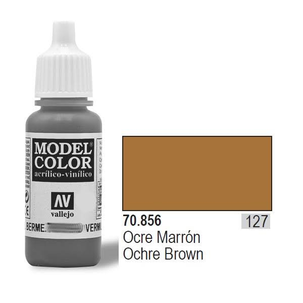 Vallejo Paint Model Color Acrylic Paint - 17ml, Ochre Brown
