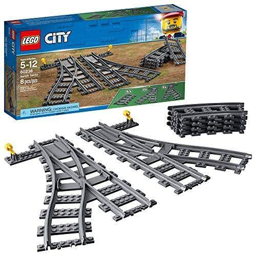 Lego City Trains Switch Tracks Building Kit - 8pcs