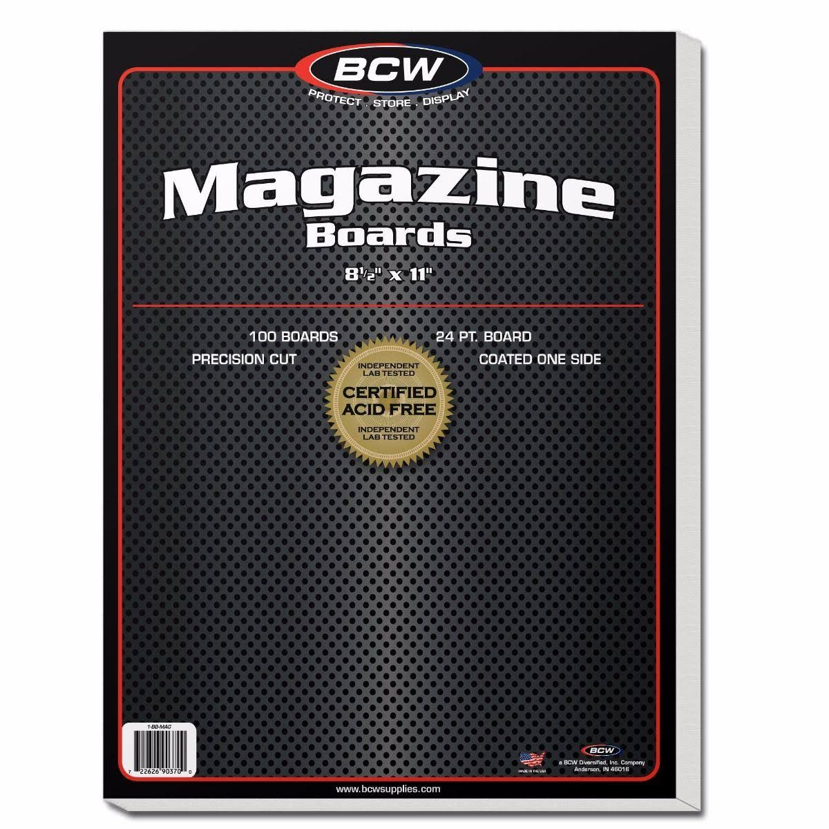 Bcw Magazine Backing Boards - 100 Pack