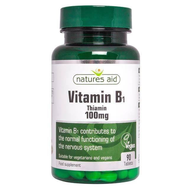 Natures Aid Vitamin B1 Food Supplement - 90 Tablets