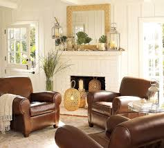 Brown Living Room Decorations by Living Room Decor With Brown Leather Sofa Radiovannes Com