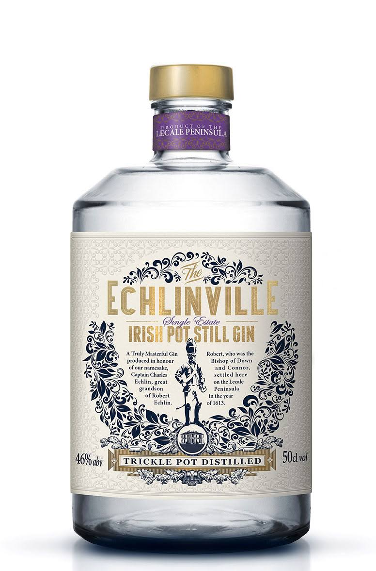 The Echlinville Single Estate Irish Pot Still Gin - 50cl