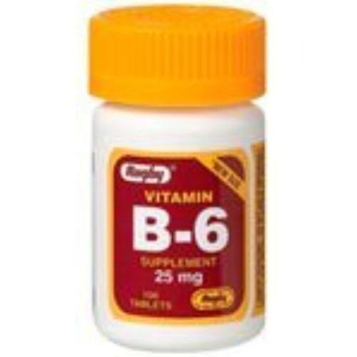 Rugby Vitamin B-6 Supplement - 25mg, 100 Tablets