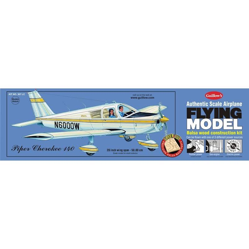 Guillow's Piper Cherokee 140 Flying Model