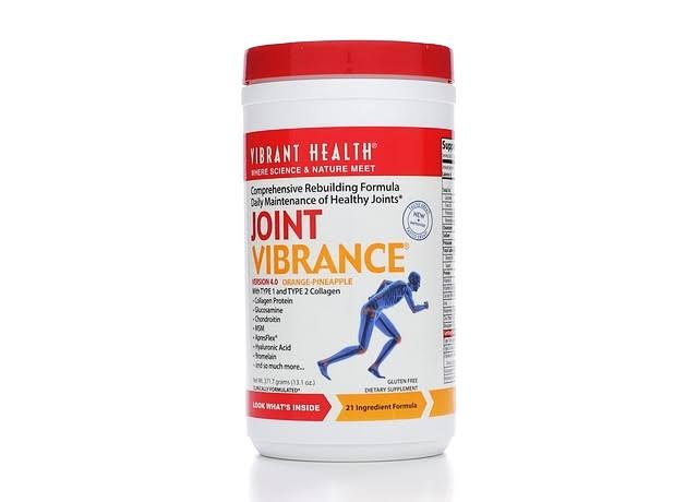 Vibrant Health Joint Vibrance Powder, Orange/Pineapple - 13.1 oz jar