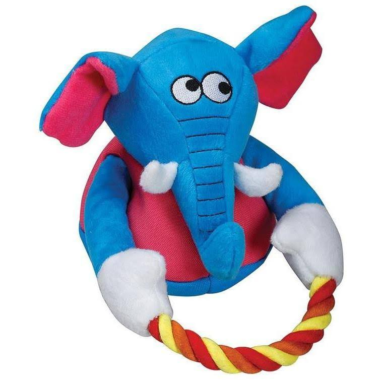 SmartPetLove Tender-Tuffs - Tug with Rope Plush Toy (Blue Elephant)