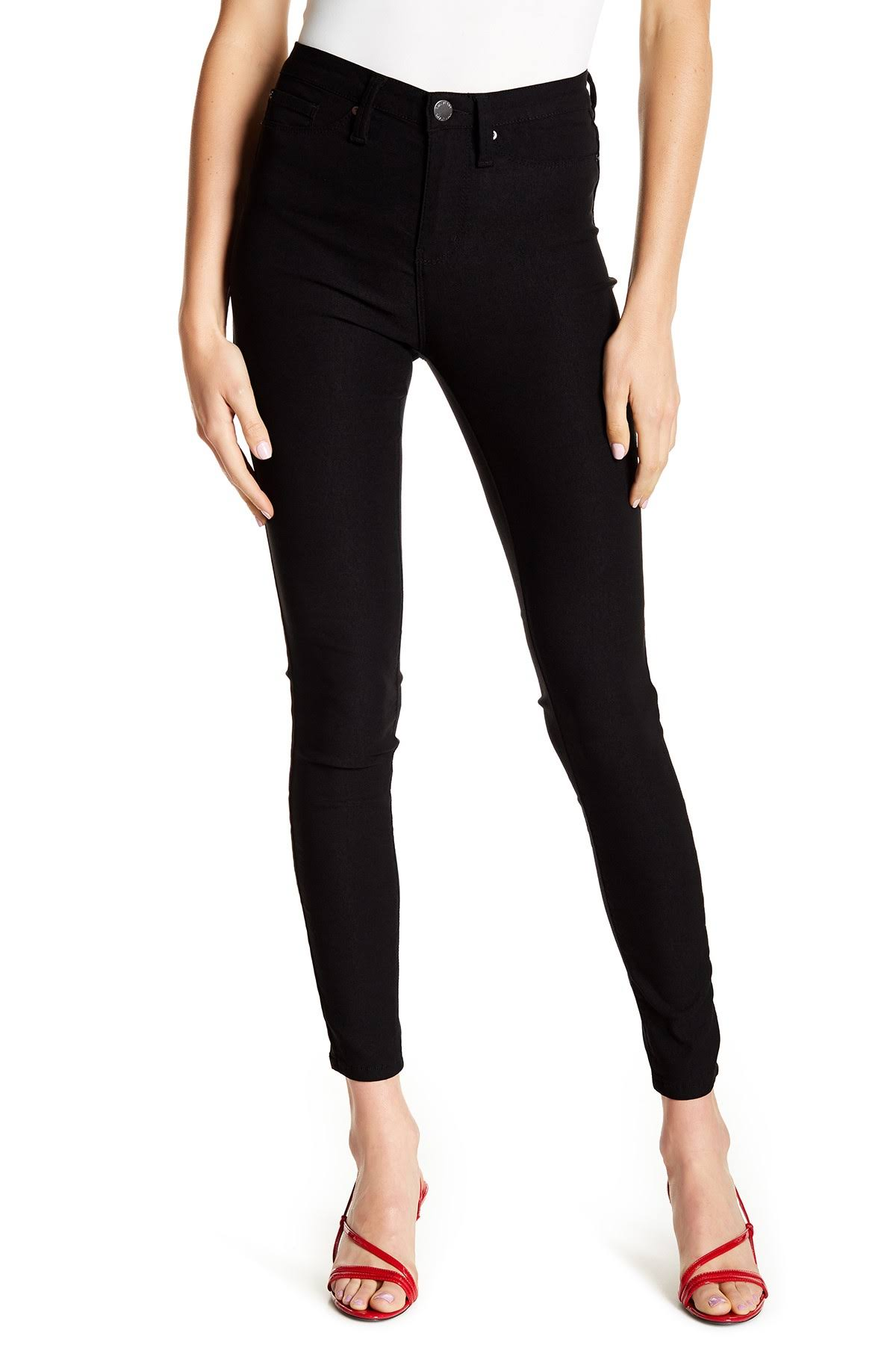 YMI Women's Hide Your Muffin Top Hyperstretch Skinny Jeans Black