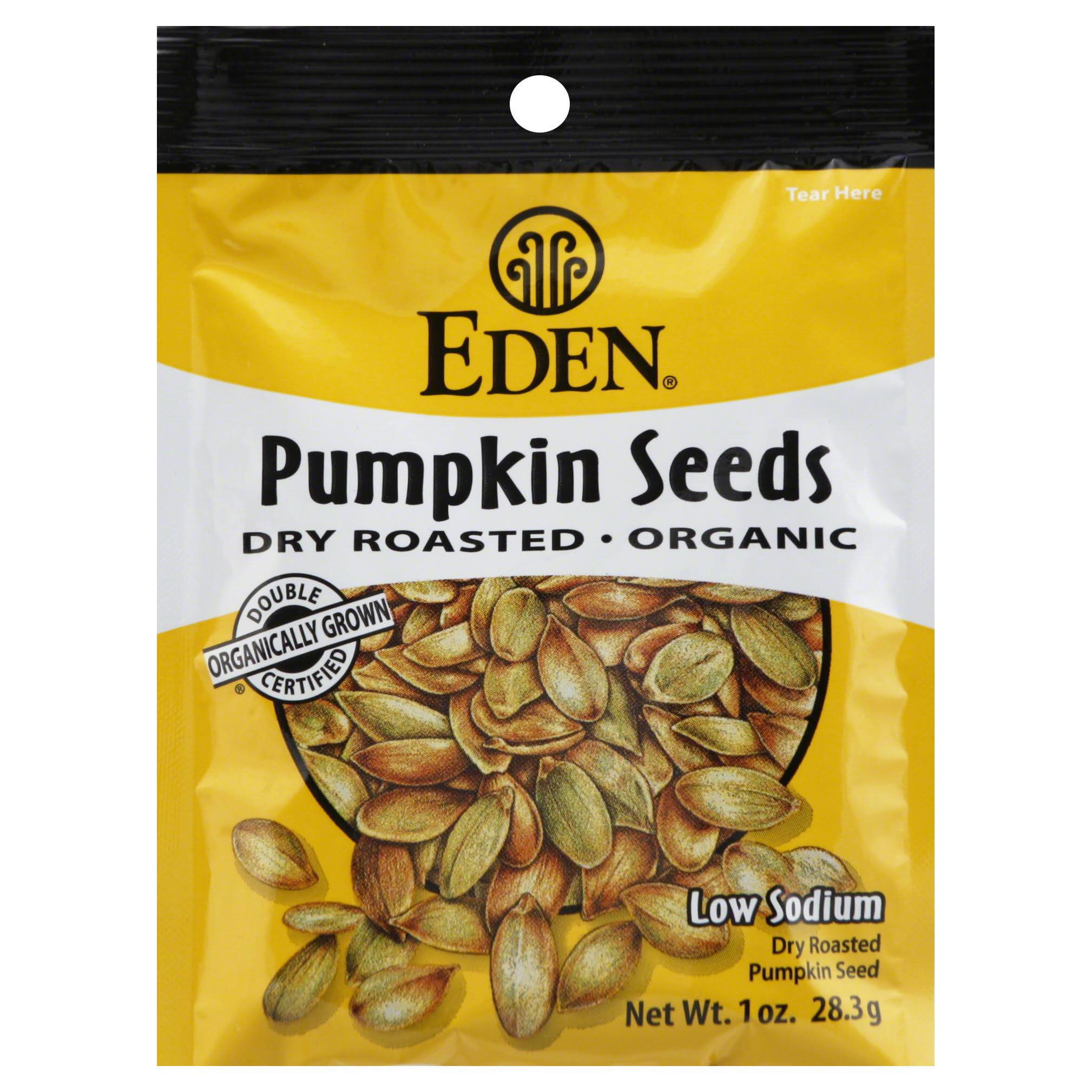 Eden Foods Organic Pocket Snacks - Pumpkin Seeds, 28.3g