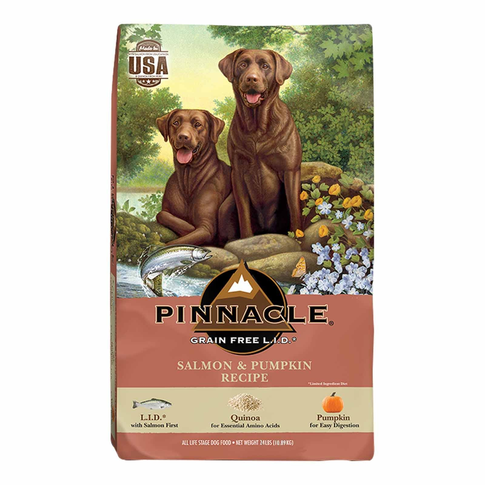 Pinnacle Salmon & Pumpkin Recipe Grain Free Dog Food 24 lbs