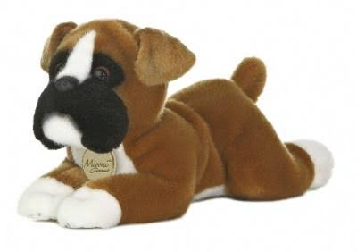 Aurora World Miyoni Boxer Stuffed Dog Soft Plush Toy - 11""