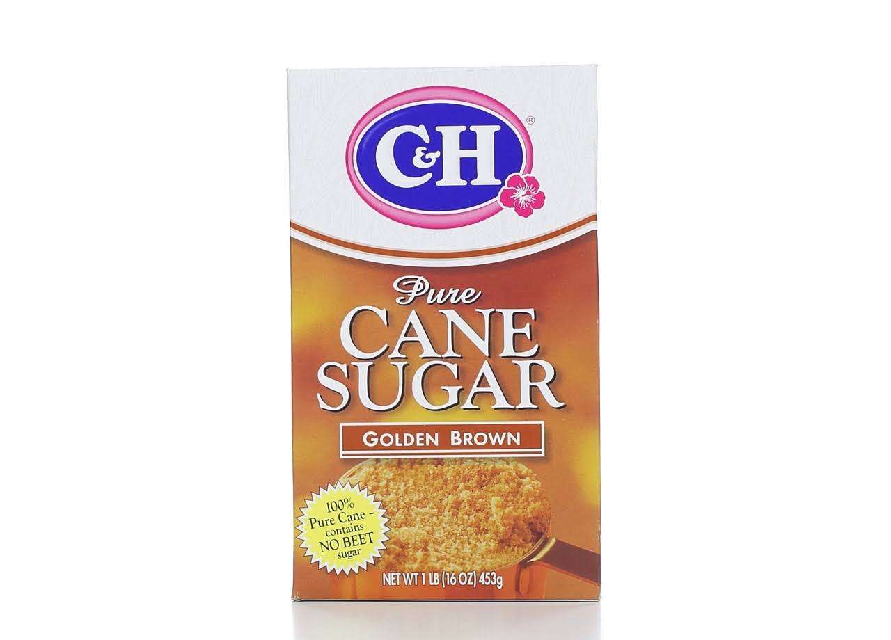 C and H Pure Cane Sugar - Golden Brown, 453g
