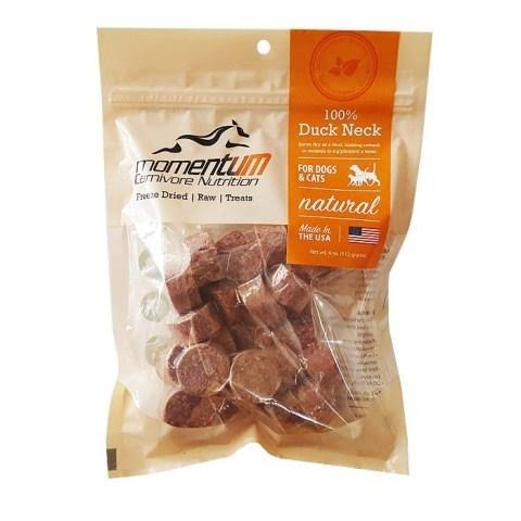 Momentum Freeze Dried Dog Cat Treats - Duck Neck, 4oz