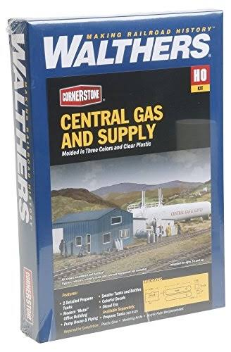 Walthers Cornerstone HO Scale Central Gas & Supply Kit