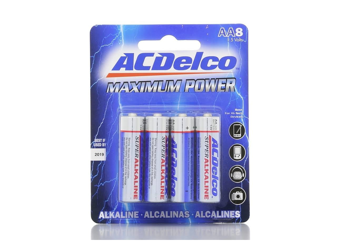 AC Delco Maximum Power AA Batteries - 8pcs