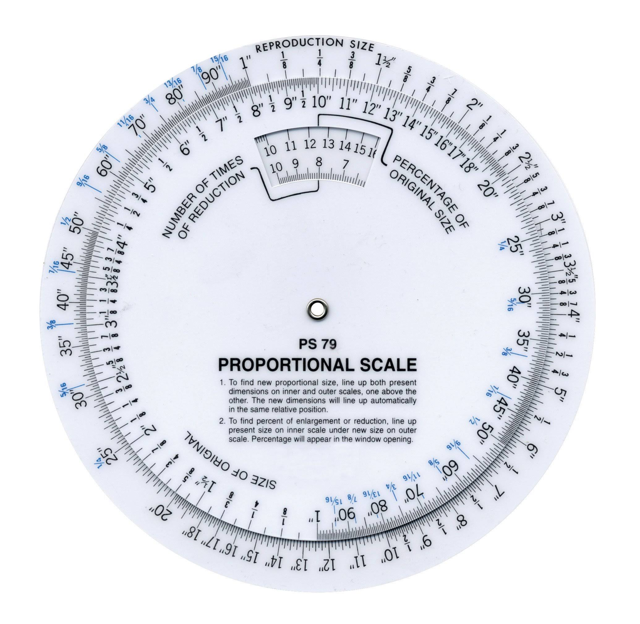 Westcott Proportional Measuring Scale - White, 6""