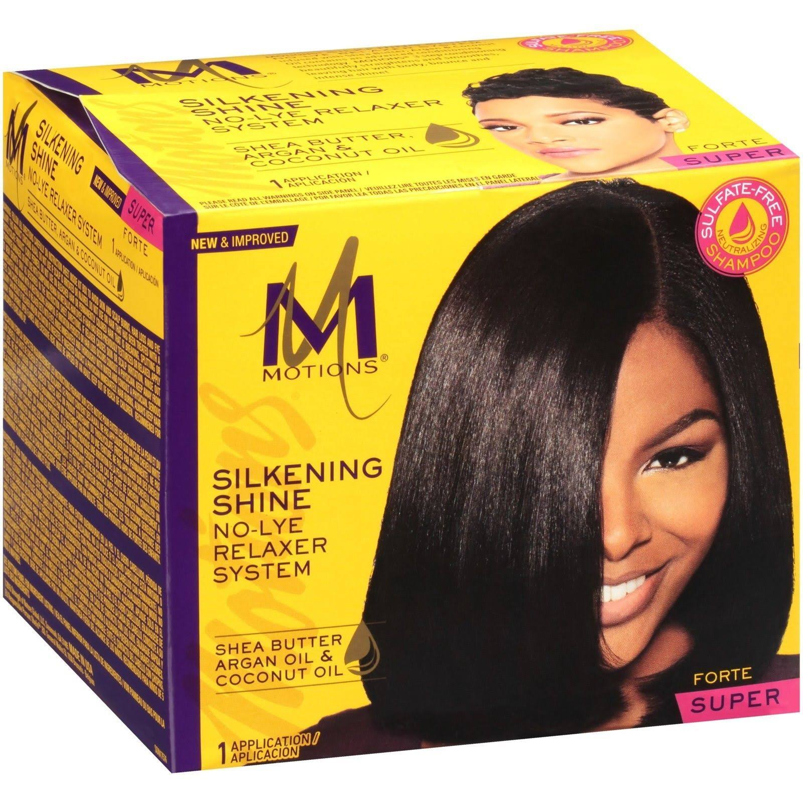 Motions Super Silkening Shine No-Lye Relaxer System Box