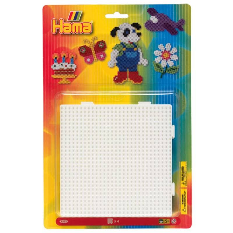 Hama Beads Pegboard - Square, Large, 4pk