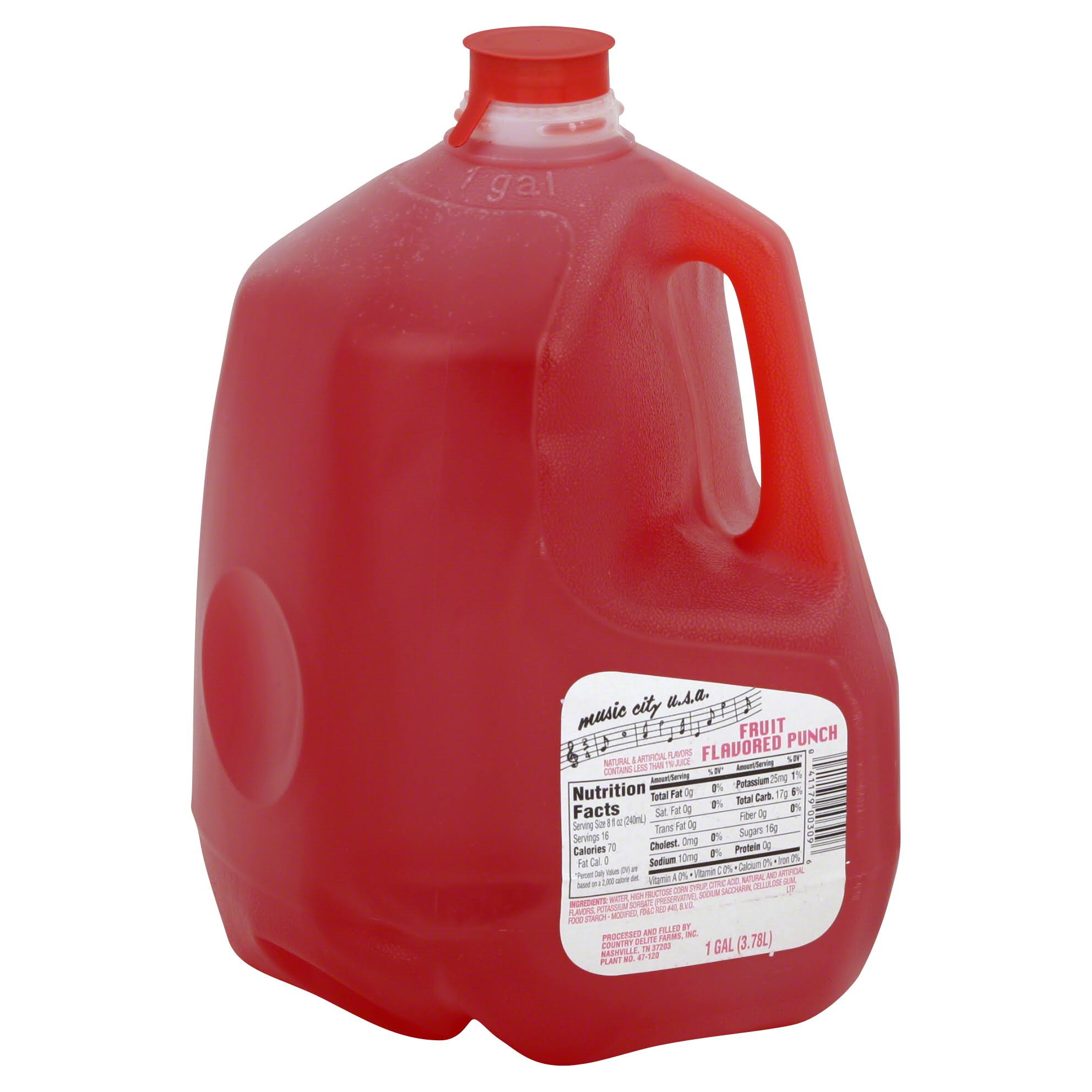 Music City Usa Punch Fruit Drink - 4gal