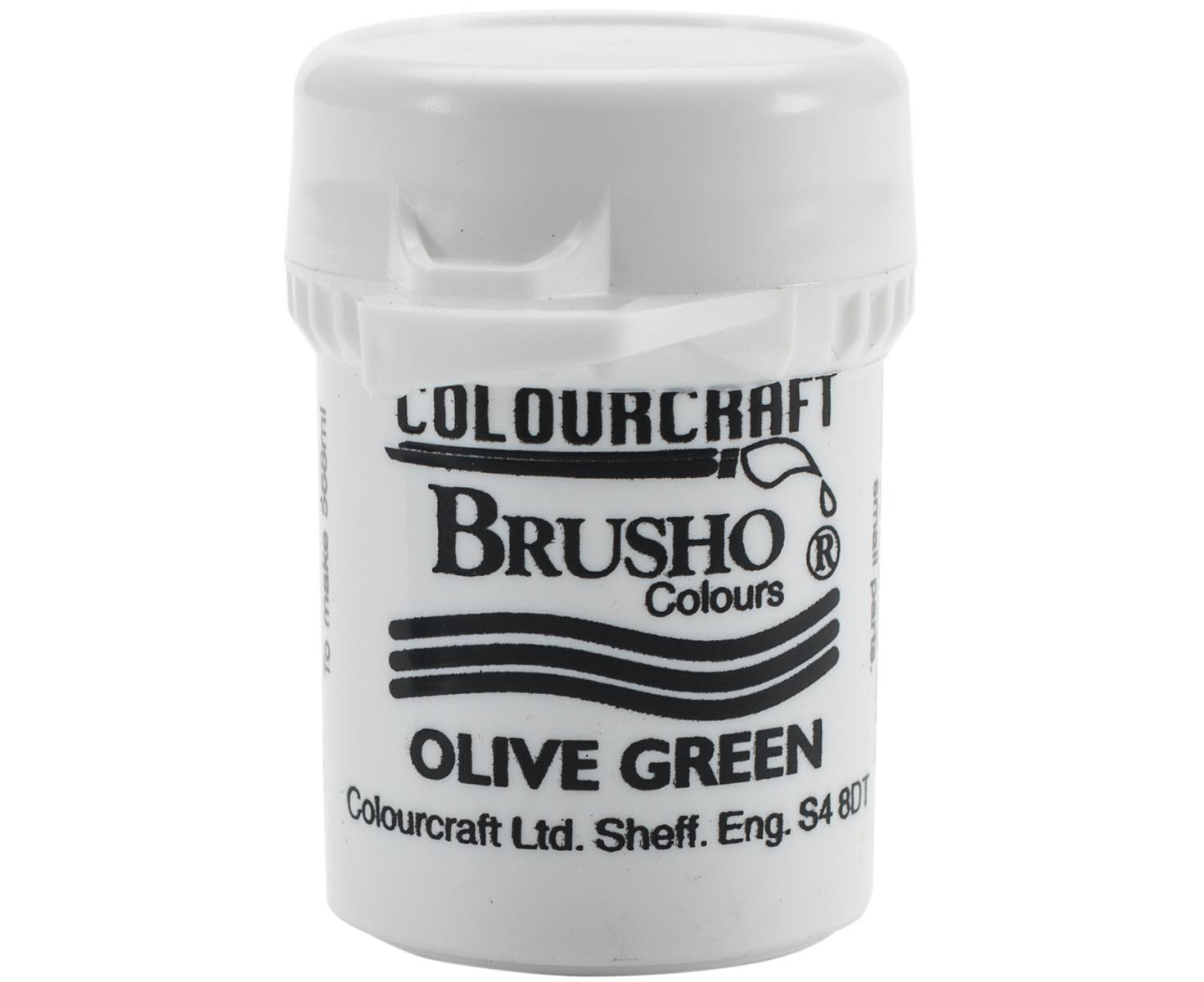 Colourcraft Brusho Crystal Colour - Olive Green, 15g