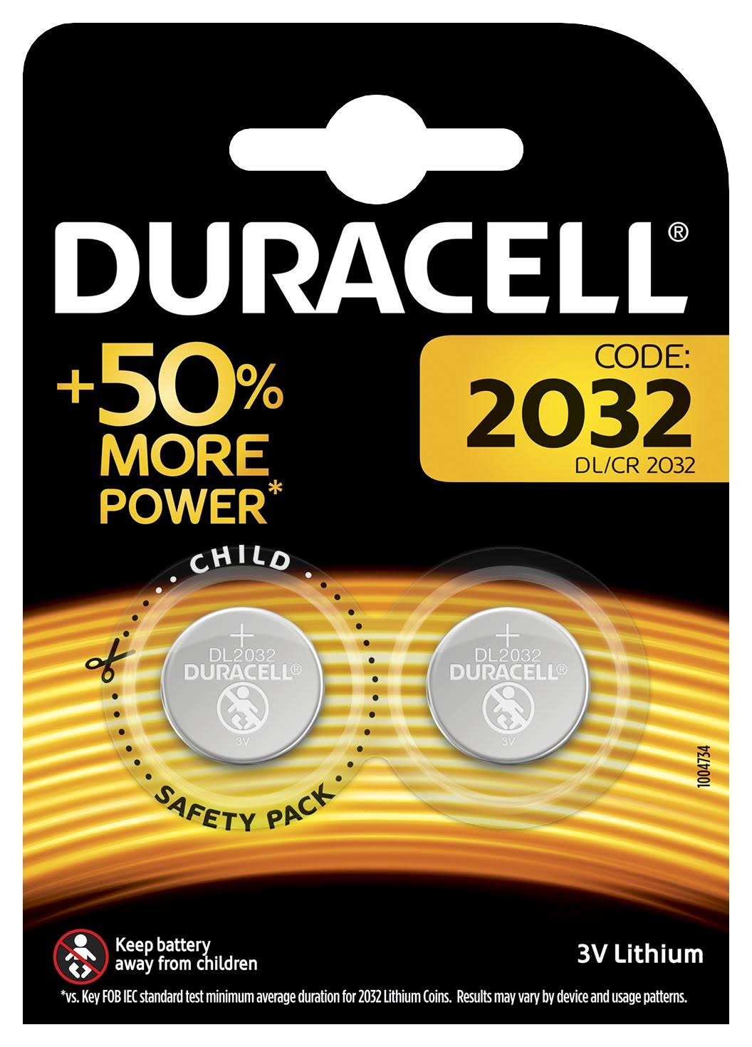 Duracell Specialty 2032 Lithium Coin Battery - 3V, 2pk