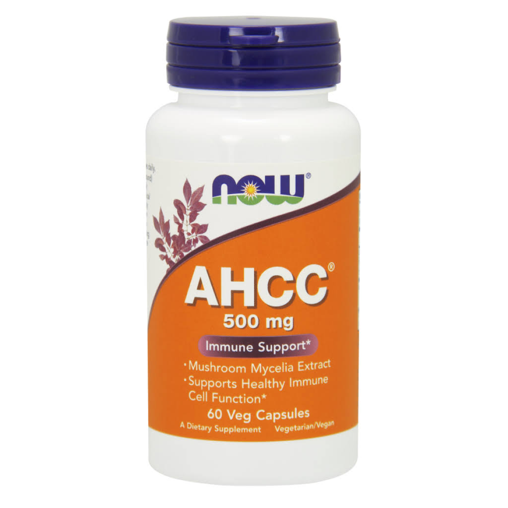 Now Foods AHCC Immune Support - 500mg, 60Vcaps