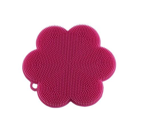 "Kuhn Rikon 23022 Stay Clean Flower Silicone Scrubber 4.5"" Pink"