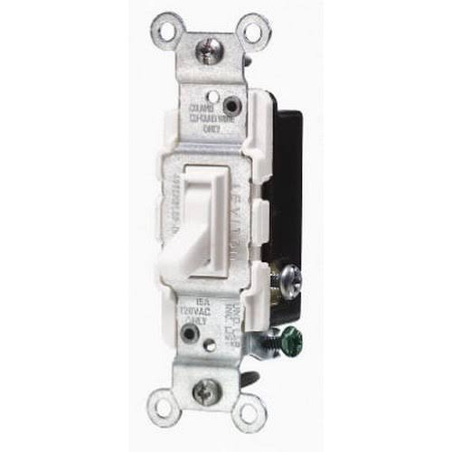 Leviton Toggle Switch - White, 15A