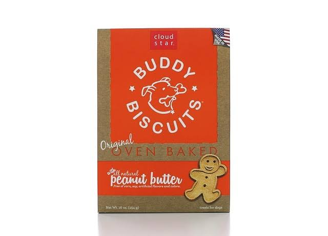 Cloud Star Buddy Biscuits Dog Treats - Peanut Butter Madness, 16oz