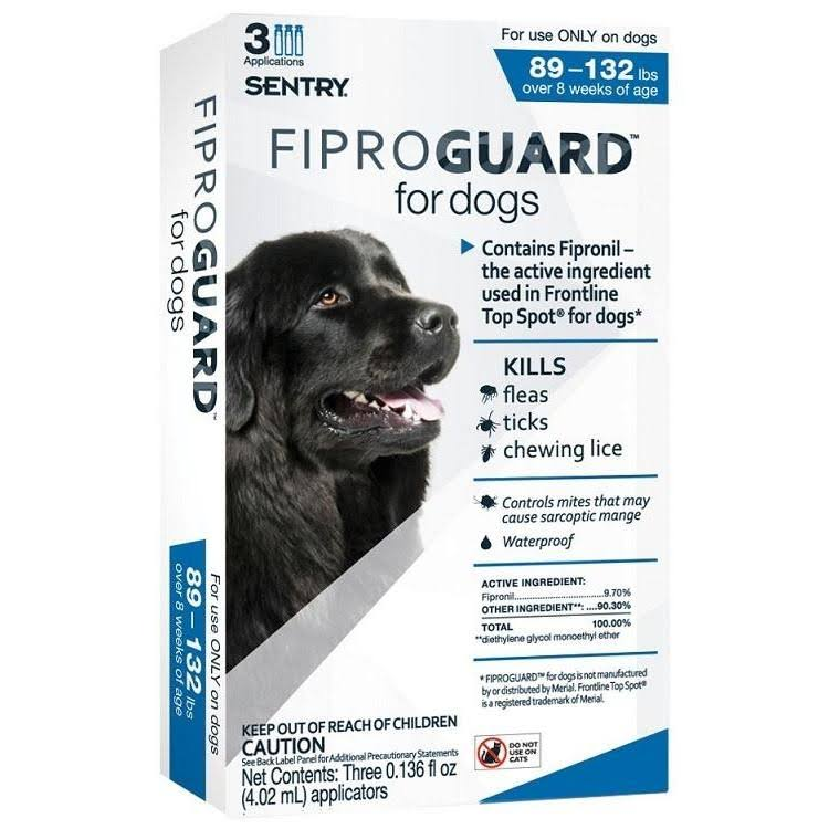 Sentry Fiproguard Topical Flea & Tick Treatment for 89-132lb Dogs