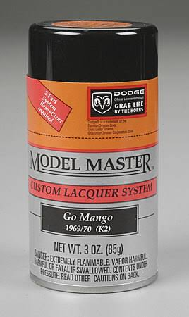 Testors Model Master Spray Go Mango Orange 3 oz 28106