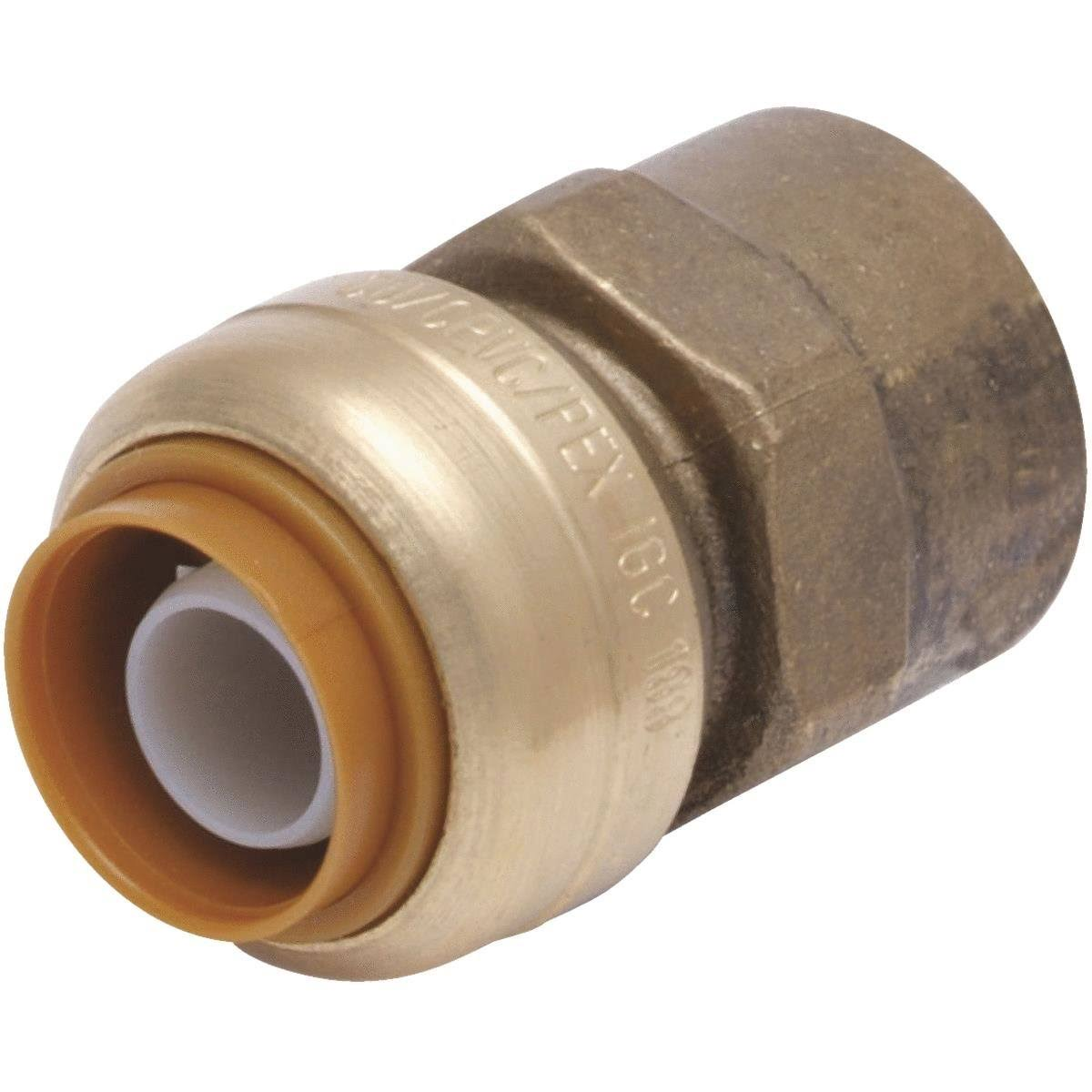 "SharkBite Lead Free Straight Connector - Brass, 3/4"" X 3/4"""