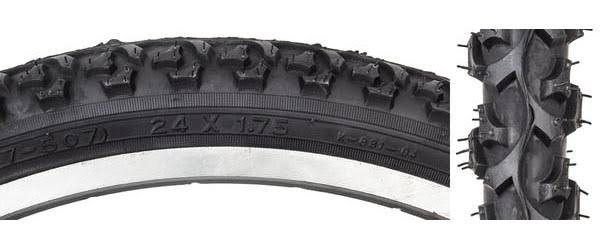 Sunlite Cycling MTB Alpha Bite Tire - Black / Black, 24in x 1.95in