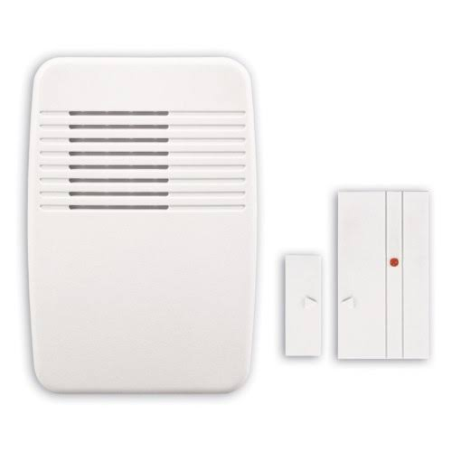 Heath Zenith SL-7368-02 Wireless Entry Alert Chime - White, Multi-function Kit