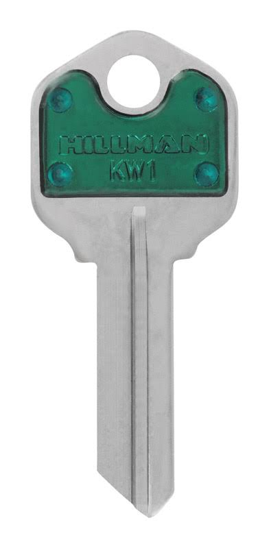 Hillman ColorPlus Universal Key Blank Single Sided - Green