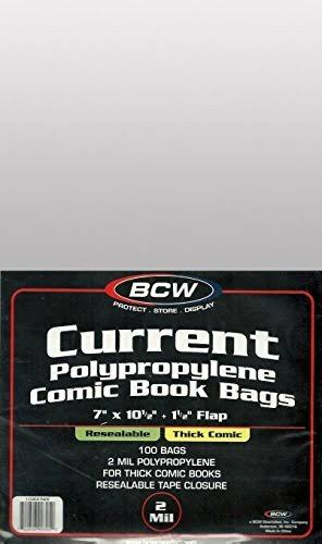 Bcw: Resealable Comic Bags, Current, Thick (100)