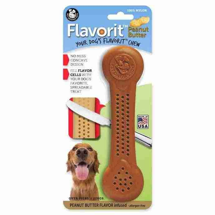 Pet Qwerks Peanut Butter Flavorit Flavored Nylon Bone XL